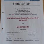 Urkunde CJD Chor